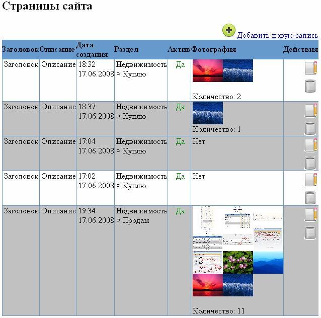 CMS2 создание таблиц
