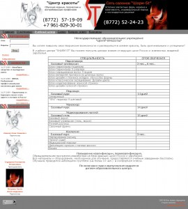Второстепенные страницы сайта